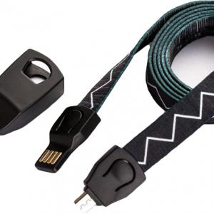 ノベルティ製造-オリジナル ネックストラップ型充電ケーブル 製作