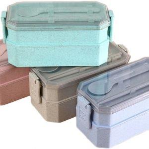 ノベルティ製造-オリジナル2段お弁当BOX 製作
