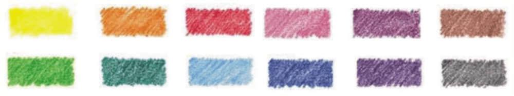 カラー鉛筆芯の種類