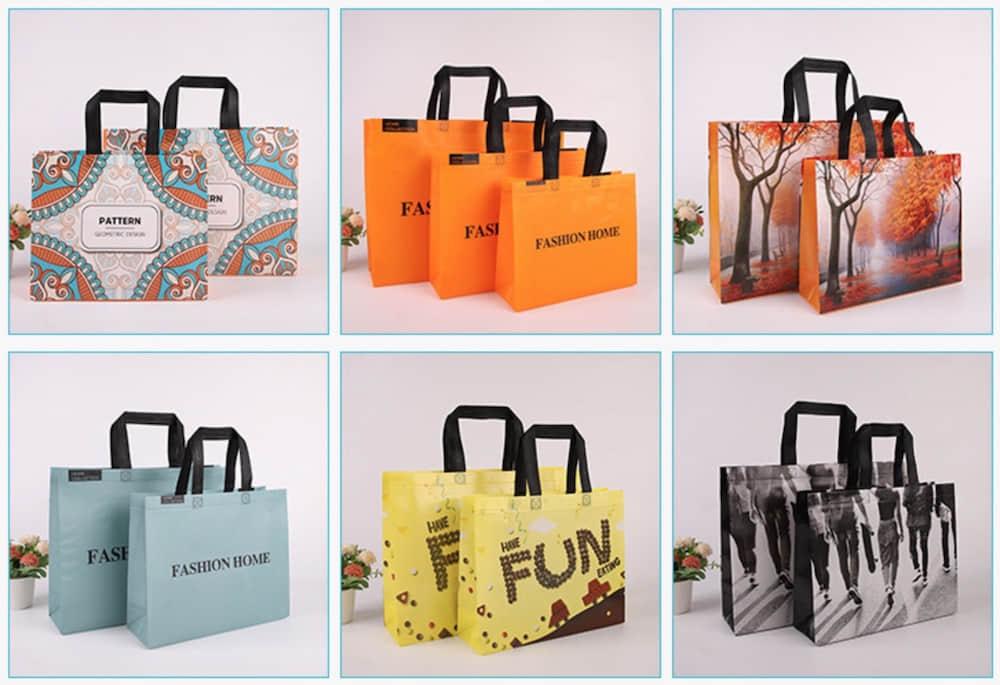 各種不織布ショッピングバッグオリジナル製作参考画像