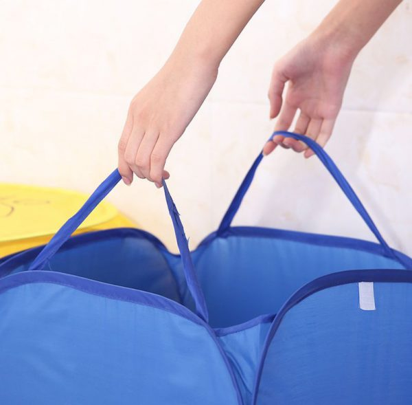 オリジナル 折りたたみ式の洗濯物入れ・ランドリーバスケット・ボックスを制作、名入れ印刷のご案内です。