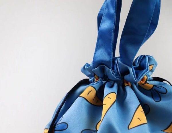 オリジナル巾着タイプお弁当、ランチバッグの制作、名入れのご案内です。