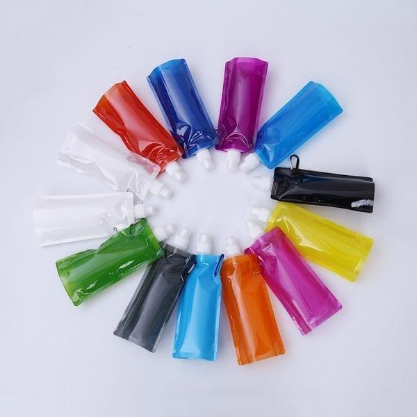 携帯に便利な折りたたみエコボトル、水筒をオリジナル制作、名入れのご案内です。