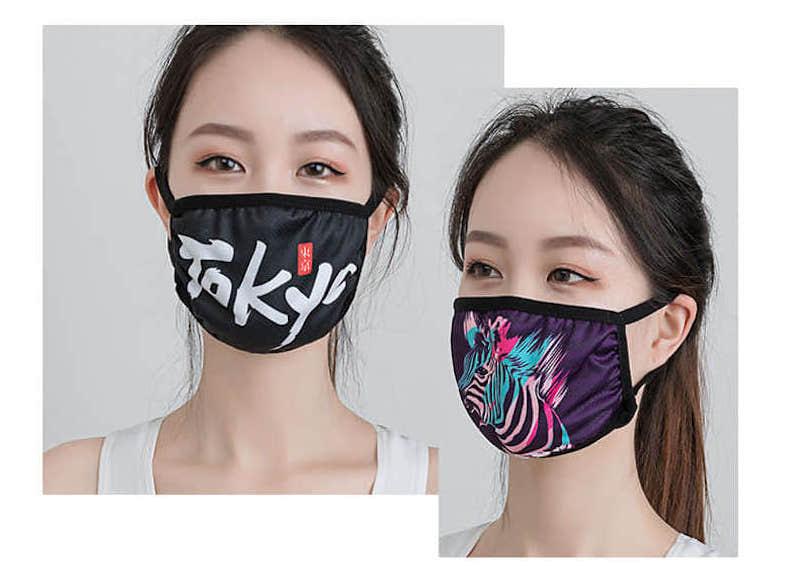 暑い夏でも涼しい、接触冷感マスクのオリジナル名入れ印刷・製作