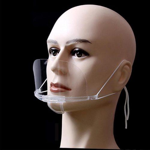 飛沫・ウイルス対策グッズ透明マスクオリジナル名入れ印刷・製作します。